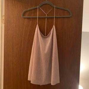 Express Metalic Blush sleeveless top